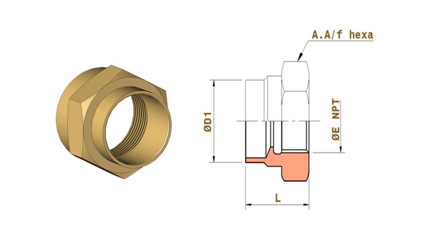 CuNi- adaptors-butt-welding-ends-x-female-threaded