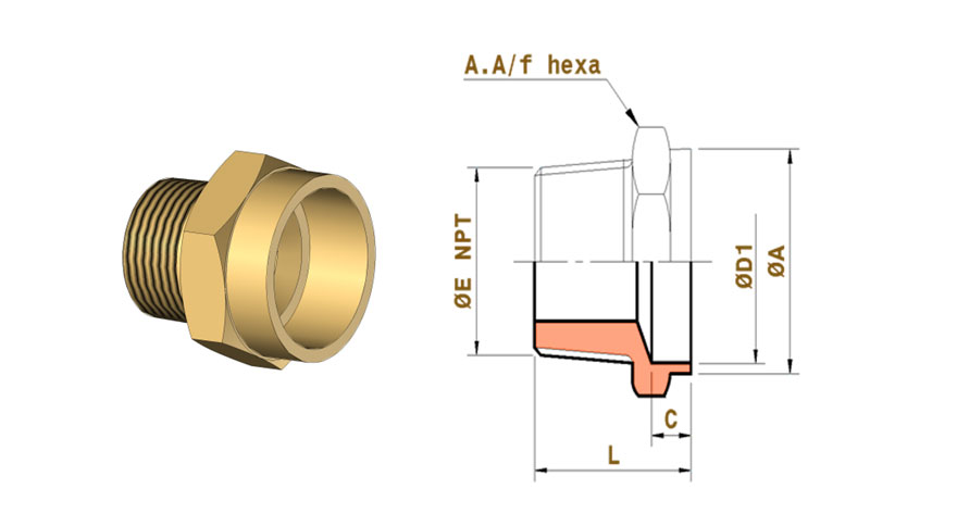 copper-nickel-staight-connectors