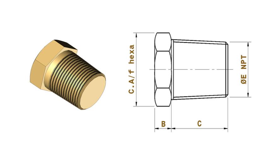 Copper-nickel-male-plugs