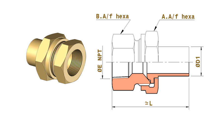 copper-nickel-female-union-connector